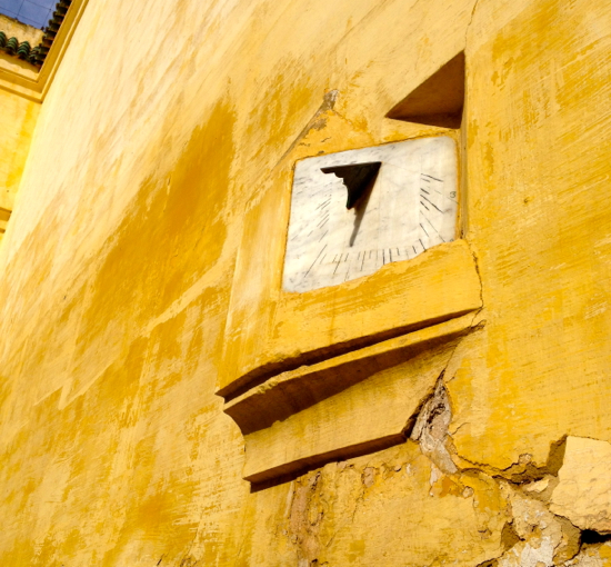 Ancient sundial, Meknes.