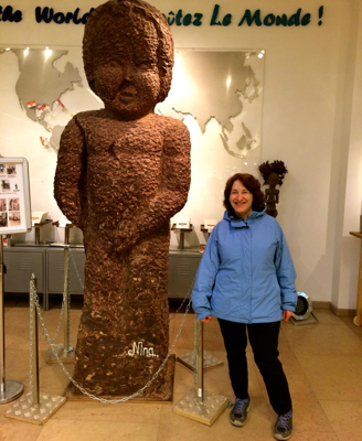 What may be the biggest chocolate replica of the Mannequin-Pis, a wildly popular statue elsewhere in Brussels. This was as close as I wanted to get.